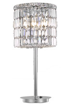 Elegant 2030TL12C/RC - 2030 Maxime Collection Table Lamp D12in H26in Lt: 3 Chrome Finish (Royal Cut Crystals)