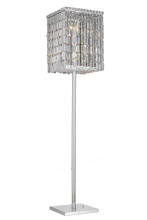 Elegant 2032FL65C/SS - 2032 Maxime Collection Floor Lamp L15in W15in H65in Lt:4 Chrome Finish (Swarovski Strass/Elements Cr