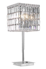 Elegant 2032TL11C/EC - 2032 Maxime Collection Table Lamp L11in W11in H26in Lt: 3  Chrome Finish (Elegant Cut Crystals)