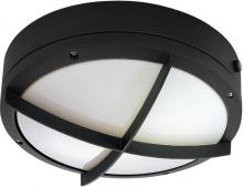 "Nuvo 60/2543 - Hudson ES - 2 Light 13w GU24 - 10"" Round Wall / Ceiling Fixture w/ Cross Grill"