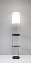 Adesso 3116-01 - Charging Station Shelf Floor lamp