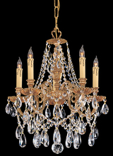 Crystorama 2705-OB-CL-MWP - Crystorama Novella 5 Light Clear Crystal Brass Mini Chandelier I