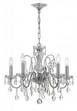 Crystorama 3025-CH - Crystorama Traditional Crystal 5 Light Clear Crystal Chrome Chandelier