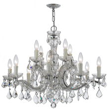 Crystorama 4379-CH-CL-MWP - Crystorama Maria Theresa 12 Light Clear Crystal Chrome Chandelier I