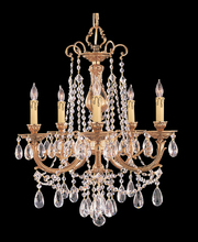 Crystorama 475-OB-CL-MWP - Crystorama Etta 5 Light Clear Crystal Brass Chandelier I