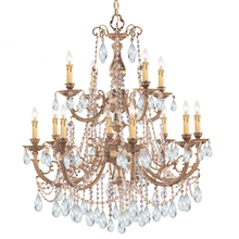 Crystorama 479-OB-CL-MWP - Crystorama Etta 12 Light Clear Hand Cut Crystal Chandelier I