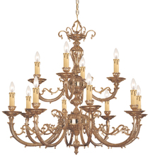 Crystorama 489-OB - Crystorama Etta 12 Light Olde Brass Chandelier