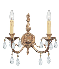 Crystorama 492-OB-CL-MWP - Crystorama Etta 2 Light Crystal Sconce