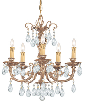 Crystorama 495-OB-CL-MWP - Crystorama Etta 5 Light Clear Crystal Brass Chandelier II