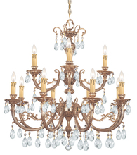 Crystorama 499-OB-CL-MWP - Crystorama Etta 12 Light Clear Hand Cut Crystal Chandelier II