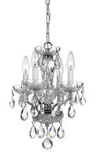 Crystorama 5534-CH-CL-SAQ - Crystorama Traditional Crystal Spectra 4 Light Chrome Mini Chandelier