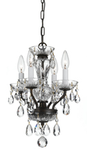 Crystorama 5534-EB-CL-SAQ - Crystorama Traditional Crystal Spectra 4 Light Chrome Mini Chandelier
