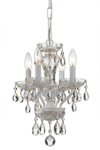 Crystorama 5534-WW-CL-SAQ - Crystorama Traditional Spectra Crystal 4 Light White Mini Chandelier