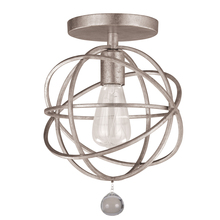 Crystorama 9220-OS_CEILING - Crystorama Solaris 1 Light Silver Ceiling Mount