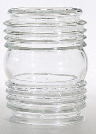 "Clear Porch Glass Shade; Measures 4-1/2 By 3-1/4""; Dia.: 3-3/4""; Fitter: 3-1/4""; Ht.: 4-"