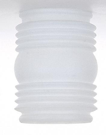 "Mason Jar Glass Lamp Shade; Frosted White; Dia.: 3-3/4""; Fitter: 3-1/4""; Ht.: 4-1/2"""
