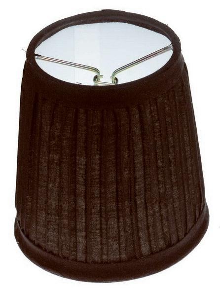 "Clip-On Shade; Black Pleated Round; 3"" x 4"" x 4"""