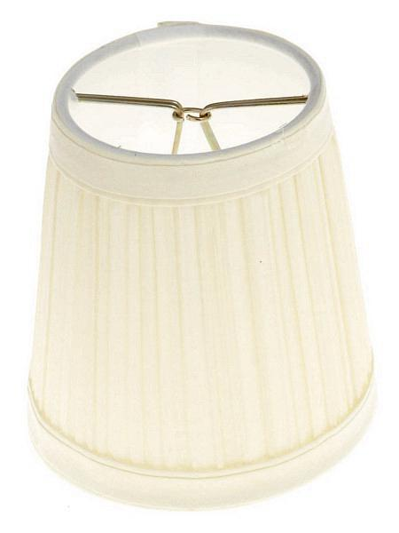 "Clip-On Shade; Beige Pleated Round; 3"" x 4"" x 4"""