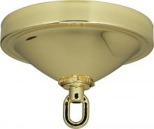 "Satco Products Inc. 90/057 - Deep Canopy Kit Shown: brass finish Diameter 5"" Center Hole 11/16"" Depth 1-3/4"""