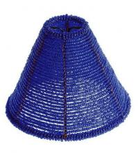 "Satco Products Inc. 90/1254 - 1"" BLUE BEADED SHADE CLIP ON"
