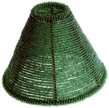 Satco Products Inc. 90/1255 - GREEN BEADED SHADE CLIP ON