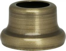 "Satco Products Inc. 90/2271 - Flanged Steel Necks 1/2"" Height-7/8"" Bottom Ant. Brass Plated"