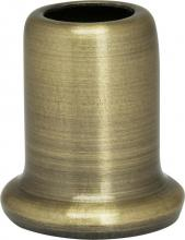 "Satco Products Inc. 90/2272 - Flanged Steel Necks 1"" Height-7/8"" Bottom Ant. Brass Plated"