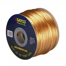 Satco Products Inc. 93/129 - Bulk Wire; 18/2 SPT-2 105°C; 250 Foot Spool; Clear Gold