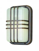 Trans Globe 41104 SAL - One Light Satin Aluminum Frosted Polycarbonate, Rectangle, Ribbed Glass Marine Light