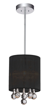 Crystal World 5006P6C-R (B) - 1 Light Chrome Drum Shade Mini Pendant from our Water Drop collection