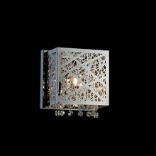 Crystal World 5008W8ST-S-1 - 1 Light Chrome Bathroom Sconce from our Eternity collection