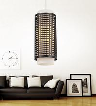 Crystal World 5209P5B - 1 Light Black Drum Shade Mini Pendant from our Checkered collection