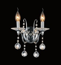 Crystal World 5507W12C-2 - 2 Light Chrome Wall Light from our Valentina collection