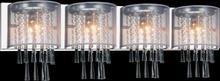 Crystal World 5519W39C-4 (Off White) - 4 Light Vanity Light with Chrome finish