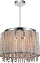 Crystal World 5535P14C-R - 6 Light Drum Shade Mini Pendant with Chrome finish