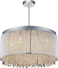 Crystal World 5535P20C-R - 12 Light Drum Shade Chandelier with Chrome finish