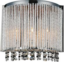 Crystal World 5535W12C-A - 3 Light Wall Sconce with Chrome finish