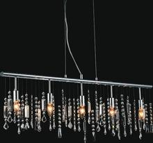 Crystal World 5549P38C - 5 Light Down Chandelier with Chrome finish