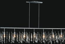 Crystal World 5549P54C - 7 Light Down Chandelier with Chrome finish