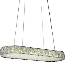 Crystal World 5626P22ST-RC - LED  Chandelier with Chrome finish