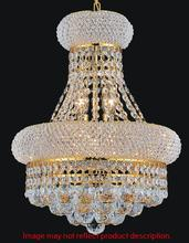 Crystal World 8001P14G - 6 Light  Chandelier with Gold finish