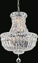 Crystal World 8003P14C - 4 Light  Chandelier with Chrome finish