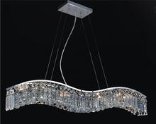Crystal World 8004P30C-A (Clear) - 5 Light Down Chandelier with Chrome finish