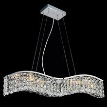 Crystal World 8004P30C-B (Clear) - 5 Light Down Chandelier with Chrome finish