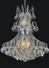 Crystal World 8012P20C - 8 Light Down Chandelier with Chrome finish