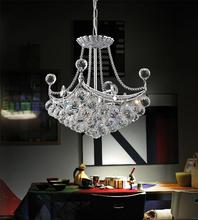 Crystal World 8041P14C-S - 4 Light  Chandelier with Chrome finish