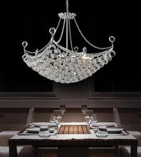 Crystal World 8041P20C-S - 8 Light Down Chandelier with Chrome finish