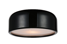 Crystal World 9688C14-2-171 - 2 Light Black Drum Shade Flush Mount from our Campton collection