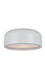 Crystal World 9688C14-2-172 - 2 Light White Drum Shade Flush Mount from our Campton collection