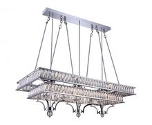 Crystal World 9972P47-20-601 - 20 Light Chrome Island / Pool Table Chandelier from our Shalia collection